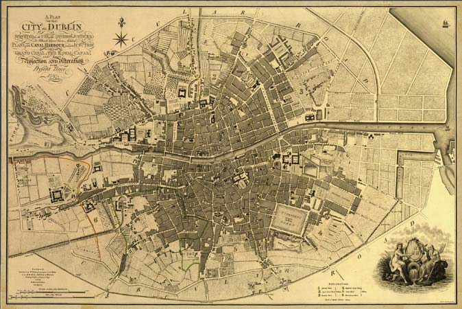 Map of Dublin 1797