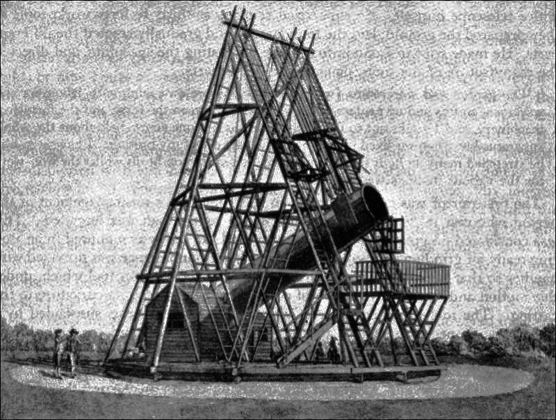 Herschel's Great 40 foot telescope
