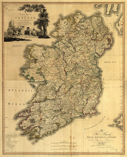 A New Map of Ireland 1797