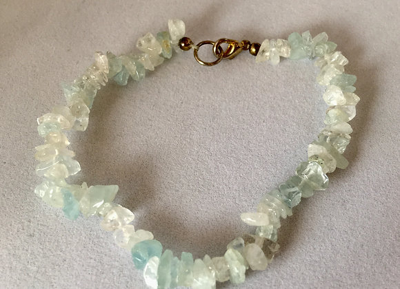 Tiny Chip - Strung and Clasp Bracelet - Multiple Types of Crystal