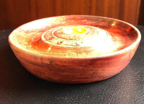 Wooden incense holder