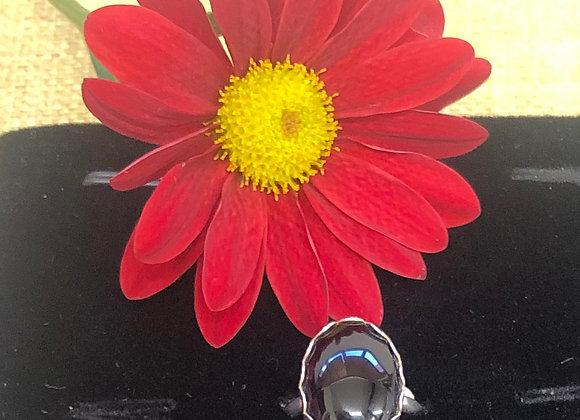 Adjustable Vintage Gemstone Sterling Silver  Rings