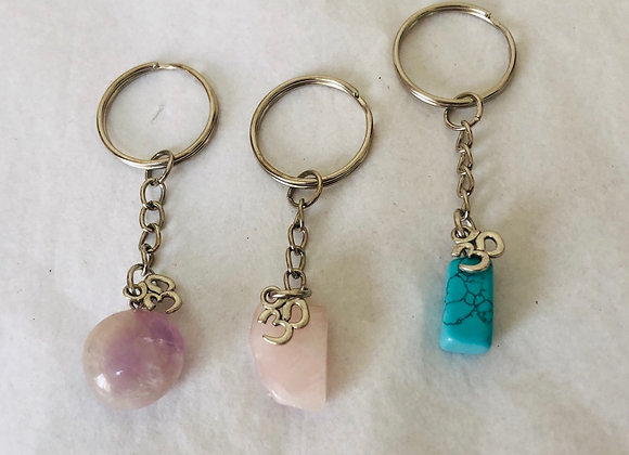 Nugget keyrings with Om charm