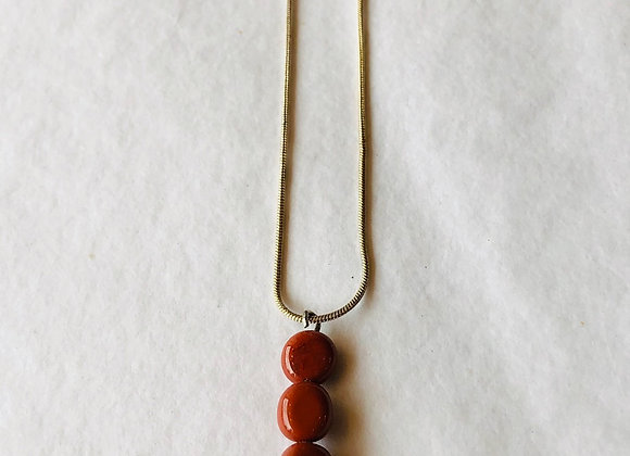 Red Jasper Silver Plated Necklace