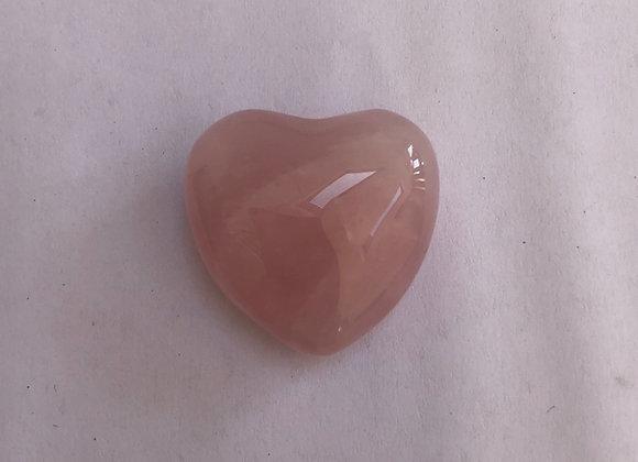 Rose Quartz Heart 2.5cm