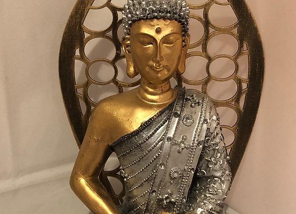 Buddha with golden leaf