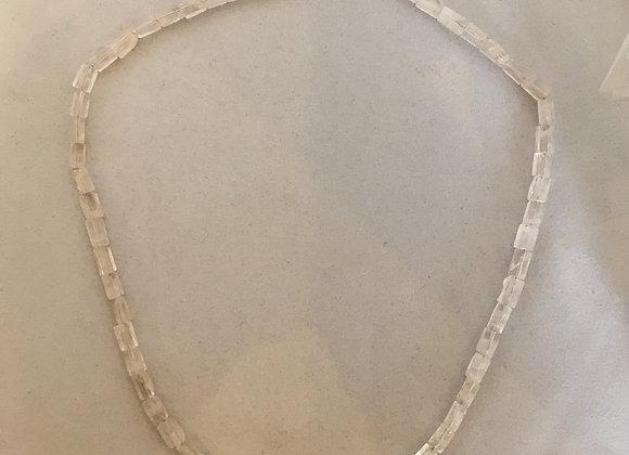 Pale Rose Quartz Sterling Silver Necklace