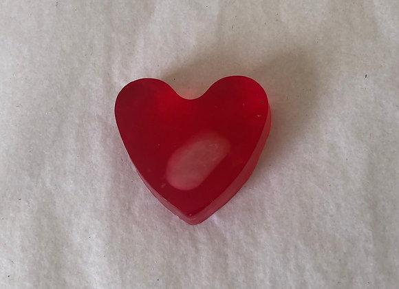 Rose quartz and geranium essential oil soap bar