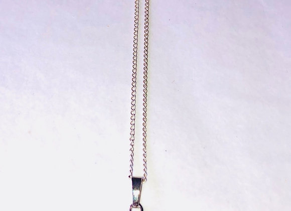 Amethyst Silver Plated Necklace