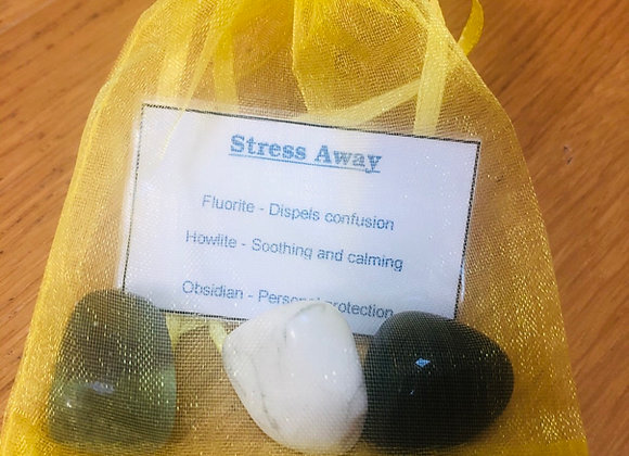 Stress Away crystal bag