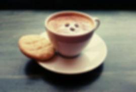 Tahini cookie and coffee