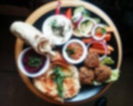 Tasty homemade falafel plate