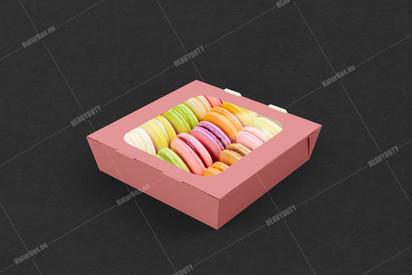 Macarons box with window