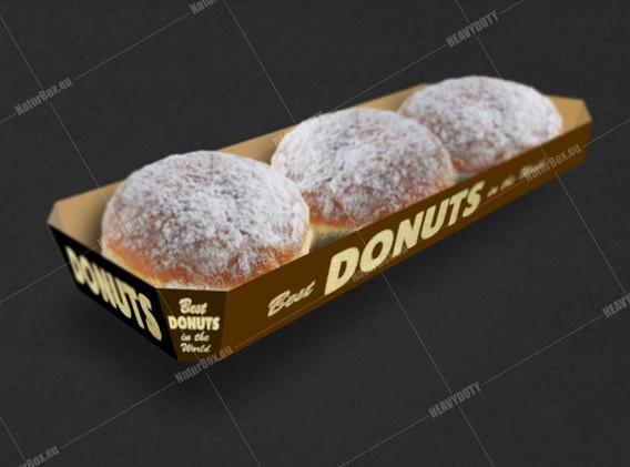 Donuts long tray