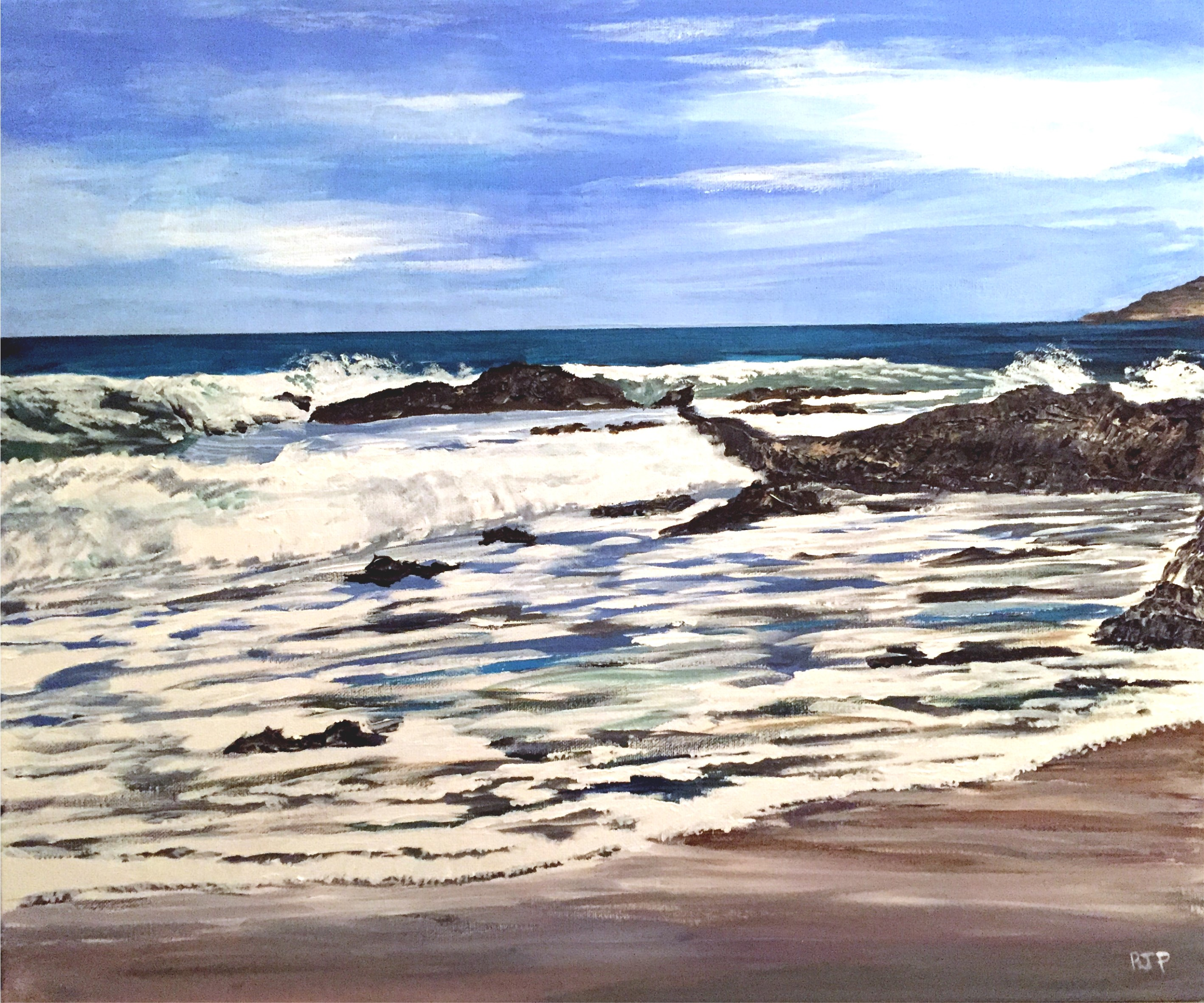 Looking_Out_Fom_Mewslade_Bay_-_Acrylic_o