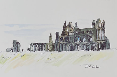 Whitby Abbey on the Yorkshire Coast Fine Art Print