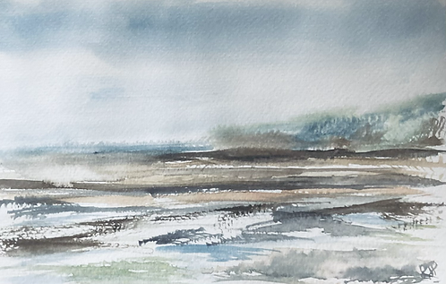 Runswick Bay -Original Watercolour