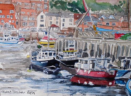 Whitby Harbour Fine Art Print