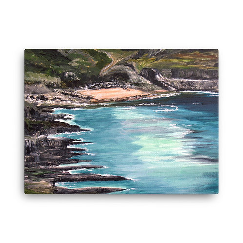 Mewslade Bay on The Gower Peninsular Print on Canvas