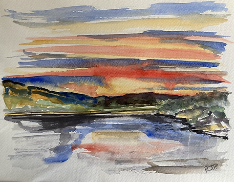 Buttermere Abstract  - Original  Watercolour