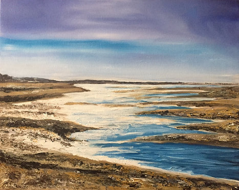 Snettisham Beach, Print on Canvas