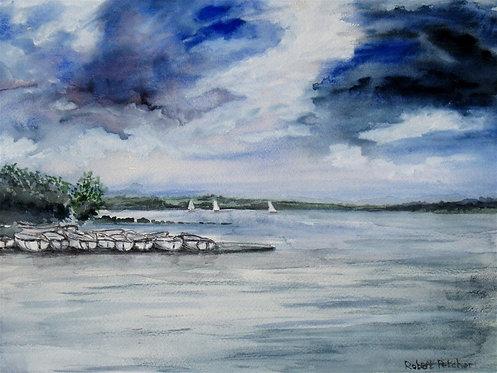 Boats on Rutland Water Fine Art Print