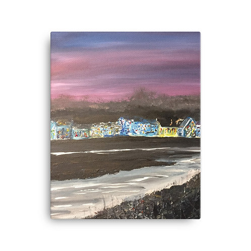 Christmas in Wells-Next-The-Sea Print on Canvas