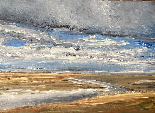 Old Hunstanton Beach Acrylic on Canvas
