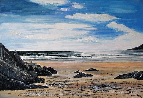 Caswell Bay - Acrylic on Canvas
