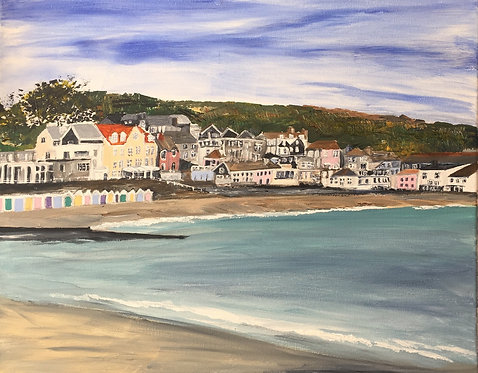 Lyme Regis Seafront Canvas Print