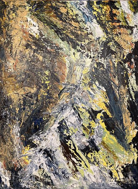Penbryn Rocks Print on Canvas