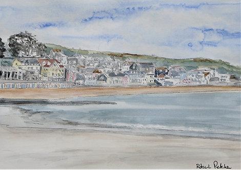 Lyme Regis Seasfront - Watercolour Sketch