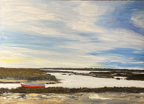 Morston Quay Original Acrylic on Canvas