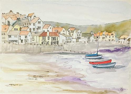 Staithes Harbour Original Watercolour