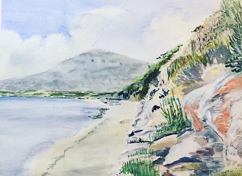 Pefkos Beach, Rhodes Fine Art Print
