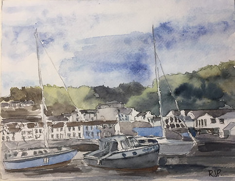 Boats in Fishguard Harbour