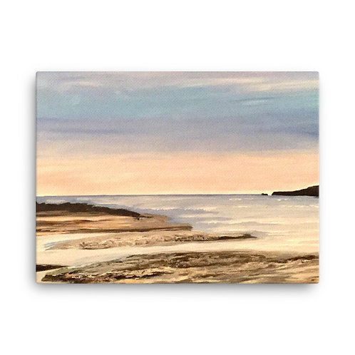 Poppit Sands, Cardigan Bay Print on Canvas