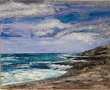 Limeslade Bay Print on Canvas