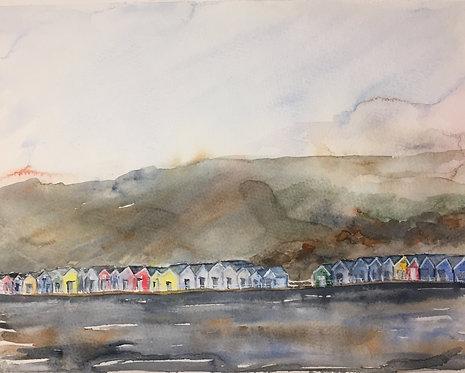 Sheringham Beach Huts Fine Art Print