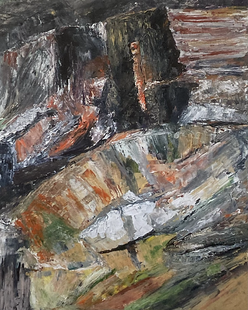 Abstract on the Rocks Print on Canvas