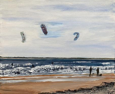 Brancaster Kite Surf - Print on Canvas