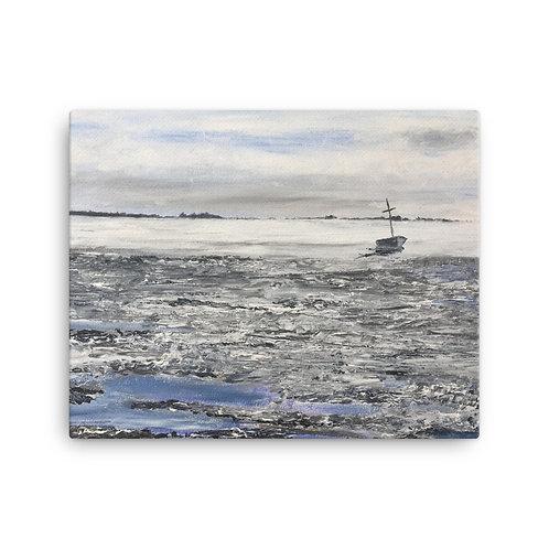 Low Tide on Snettisham Print on Canvas