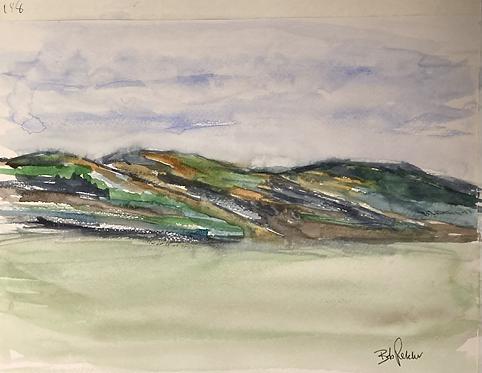 The Malvern Hills Original Watercolour