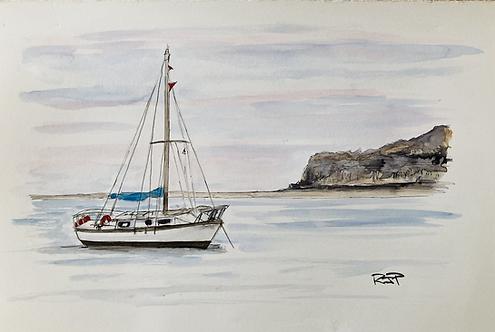 Sailing  in Runswick Bay - Fine Art Print