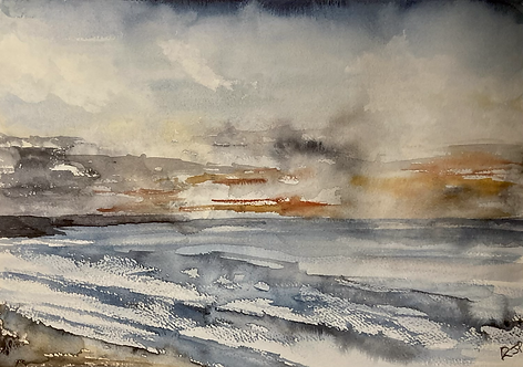 From Whitby to Sandsend -Original Watercolour