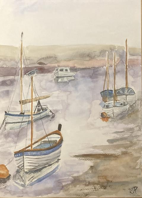 Boats in Blakeney Original Watercolour