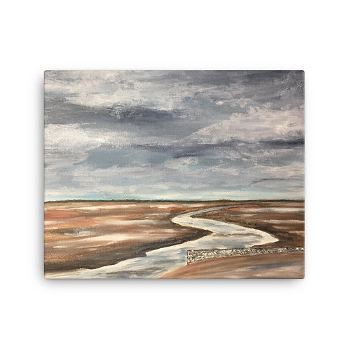 Old Hunstanton Print on Canvas
