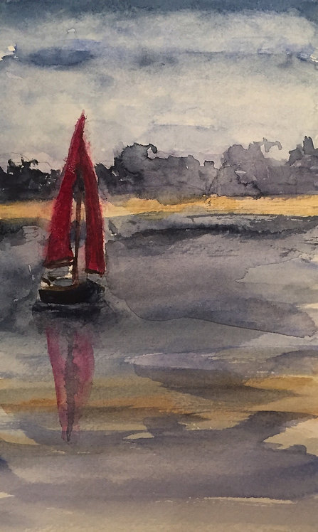 Red Sails in a Norfolk Sunset