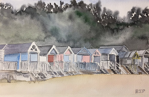 Beach Huts at Wells-Next-The-Sea Fine Art Print