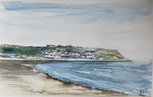 Runswick Bay Original Watercolour
